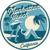 Carte postale de Manhattan Beach illustration de vecteur