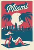Carte postale de Miami Beach illustration libre de droits