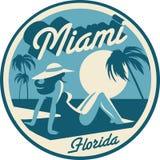 Carte postale de Miami Beach la Floride illustration stock