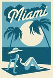 Carte postale de Miami la Floride illustration libre de droits