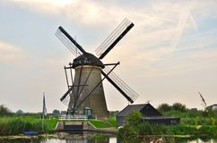 Carte postale de moulin à vent Photographie stock libre de droits