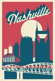 Carte postale de Nashville Tennessee illustration de vecteur