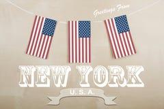 Carte postale de New York Photographie stock