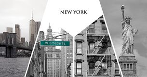 Carte postale de New York City photo libre de droits