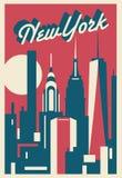 Carte postale de New York City illustration stock