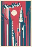 Carte postale de New York City images libres de droits