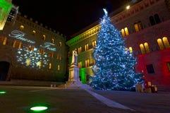Carte postale de Noël de Sienne Photographie stock libre de droits
