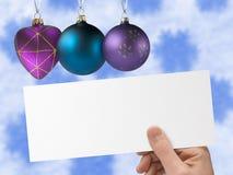 Carte postale de Noël disponible Photo stock