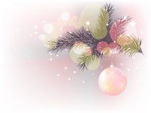 Carte postale de Noël et d'an neuf Images stock