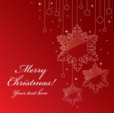 Carte postale de Noël Images libres de droits
