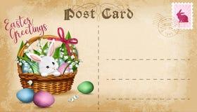 Carte postale de Pâques de vecteur Photo stock