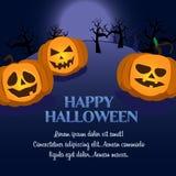 Carte postale de potiron de Halloween Photos libres de droits