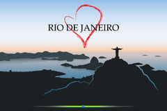 Carte postale de Rio de Janeiro Image libre de droits
