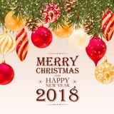 Carte postale de salutation de Joyeux Noël illustration libre de droits