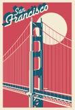Carte postale de San Francisco California image libre de droits