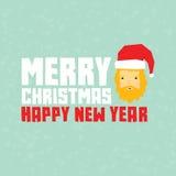 Carte postale de Santa de hippie de bonne année Image stock