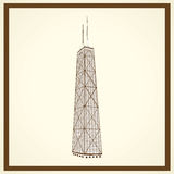 Carte postale de Sears Tower Image libre de droits