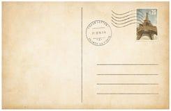 Carte postale de style ancien avec l'illustration du timbre-poste 3d Image libre de droits