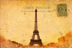 Carte postale de style de vintage de Tour Eiffel Image stock