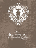 Carte postale de valentine de cru Images stock