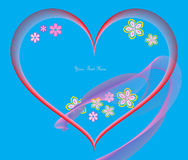Carte postale de Valentine. Place pour le texte. photographie stock