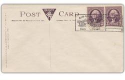 Carte postale de vintage avec le timbre Image libre de droits