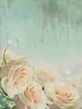 Carte postale de vintage avec les fleurs élégantes Image stock
