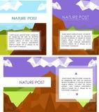 Carte postale de voyage Images libres de droits