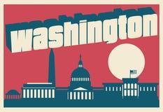 Carte postale de Washington DC images stock