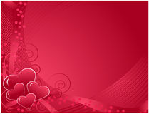 Carte postale du jour de Valentine Images stock