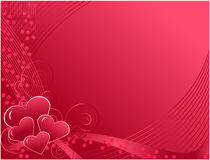 Carte postale du jour de Valentine Photo stock