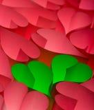 Carte postale du jour de Valentine Images libres de droits