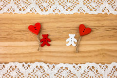 Carte postale du jour de Valentine mariage Photo libre de droits