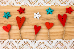 Carte postale du jour de Valentine mariage Photographie stock libre de droits