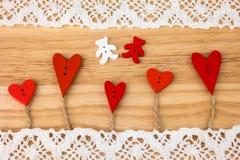 Carte postale du jour de Valentine mariage Images libres de droits