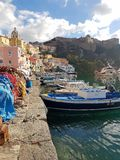 Carte postale du Procida ensoleillé photo stock