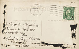 Carte postale du Wyoming Image stock