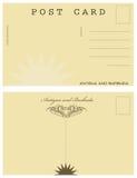 Carte postale en Antigua-et-Barbuda Photo libre de droits