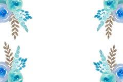 Carte postale florale d'aquarelle illustration de vecteur