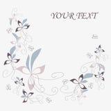 Carte postale florale initiale Image libre de droits