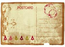 Carte postale grunge de Noël Images libres de droits