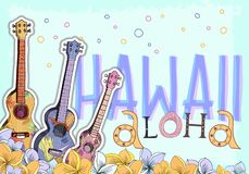 Carte postale hawaïenne illustration stock