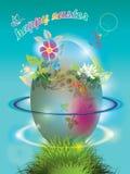 Carte postale heureuse de Pâques Photos stock