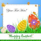 Carte postale heureuse de Pâques Photos libres de droits