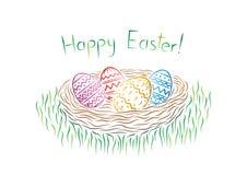 Carte postale heureuse de Pâques Photographie stock