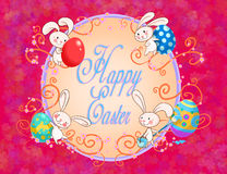 Carte postale heureuse de Pâques Images stock