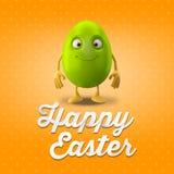 Carte postale heureuse de Pâques, carte de voeux, joyeuse félicitation de Pâques Photos libres de droits