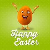 Carte postale heureuse de Pâques, carte de voeux, joyeuse félicitation de Pâques Photographie stock