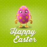Carte postale heureuse de Pâques, carte de voeux, joyeuse félicitation de Pâques Images libres de droits