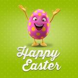Carte postale heureuse de Pâques, carte de voeux, joyeuse félicitation de Pâques Photographie stock libre de droits